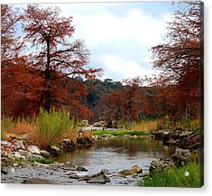 River Tranqulity Acrylic Print by David  Norman