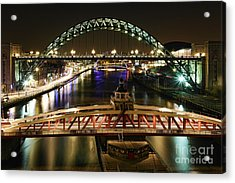River Tyne At Night Acrylic Print