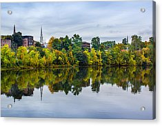 River View Of Brattleboro Vermont Acrylic Print