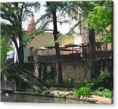 River Walk Cafe Acrylic Print