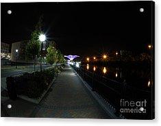 River Walk On The Fox Acrylic Print by David Bearden
