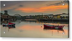 River Wear Sunset - Sunderland Acrylic Print
