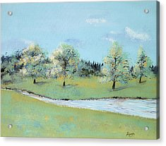Acrylic Print featuring the painting River Windrush by Elizabeth Lock