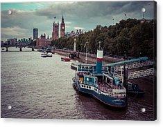 Riverbank Acrylic Print by Daniel Kocian
