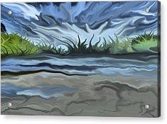 Riverbank Acrylic Print