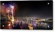Riverbend Fireworks Acrylic Print