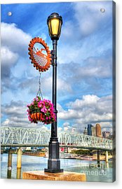 Riverboat Lamp Acrylic Print by Mel Steinhauer