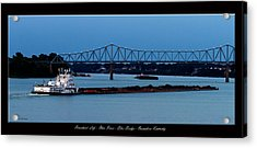 Riverboat Life Acrylic Print by David Lester