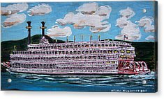 Riverboat Queen Acrylic Print by Mitchell McClenney