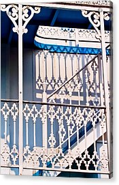 Riverboat Railings Acrylic Print