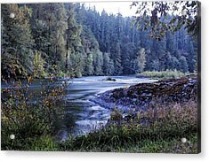 Riverflow At Dusk Acrylic Print by Belinda Greb