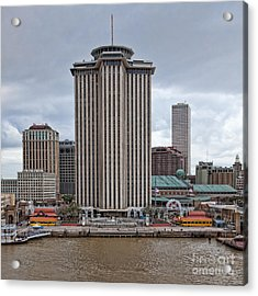 Riverfront Of New Orleans Acrylic Print by Kay Pickens