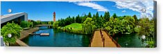 Riverfront Park Clean Pano Acrylic Print by Dan Quam