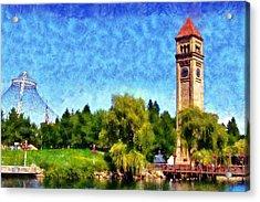 Riverfront Park Acrylic Print by Kaylee Mason