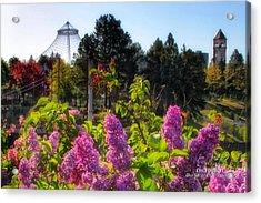 Riverfront Park Lilac Acrylic Print by Dan Quam