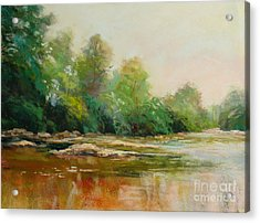 River's Edge Acrylic Print by Virginia Dauth