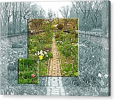 Acrylic Print featuring the photograph Riverside Garden by Sarah McKoy