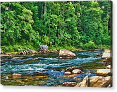 Riverview Acrylic Print by Kenny Francis