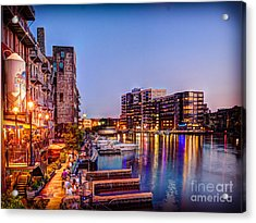 Riverwalk At Dusk Acrylic Print