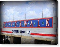 Riverwalk Acrylic Print by Beth Vincent