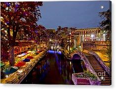 Riverwalk Christmas Acrylic Print