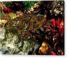 Riverwalk Fountain Acrylic Print