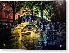 Riverwalk In The Sun Acrylic Print by Tricia Marchlik