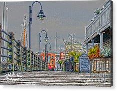 Riverwalk Acrylic Print by Marie Kirschner