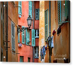 Riviera Alley Acrylic Print by Inge Johnsson