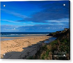 Riviere Sands Cornwall Acrylic Print by Louise Heusinkveld