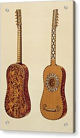 Rizzio Guitar, From Musical Instruments Acrylic Print by Alfred James Hipkins