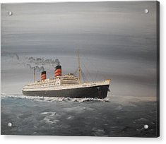 R.m.s Queen Elizabeth Acrylic Print by James McGuinness