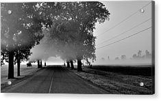 Road Into Morning Mist - Canada Acrylic Print