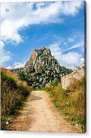 Road Into The Hills Acrylic Print