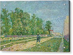Road On The Edge Of Paris Acrylic Print by Vincent Van Gogh
