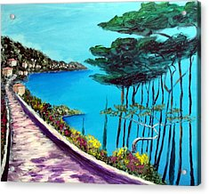 Road On The Riviera Acrylic Print by Larry Cirigliano