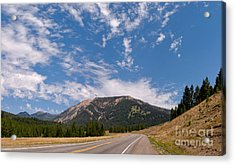 Road To Big Sky Country Acrylic Print