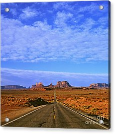 Road To Monument Valley Acrylic Print by Alex Cassels