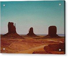 Road To Monument Valley Acrylic Print by Harvey Rogosin