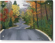 Road To Northport Acrylic Print