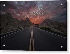 Road To Nowhere Badlands Acrylic Print