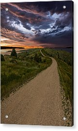 Road To Nowhere - Stormy Little Bend Acrylic Print