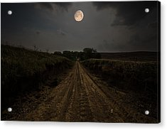Road To Nowhere - Waxing Gibbous Moon Acrylic Print