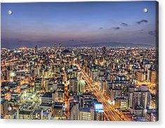 Road To Osaka Dome Acrylic Print by Daniel Chui