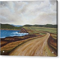 Road To Recovery Aka Cheticamp Ns Acrylic Print by Sharon Steinhaus