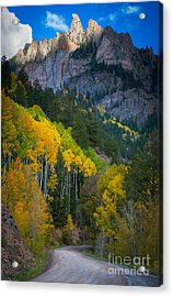 Road To Silver Mountain Acrylic Print by Inge Johnsson