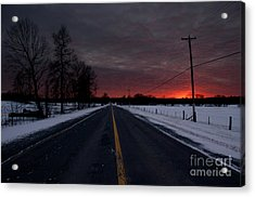 Road To Success Acrylic Print by Cheryl Baxter