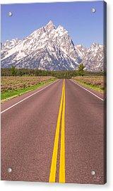 Road To The Tetons Acrylic Print
