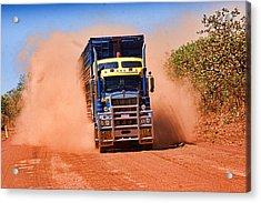 Acrylic Print featuring the photograph Road Train On Dirt Road by David Rich