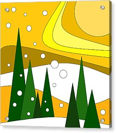 Road Trip Vi - Snow And Sun Acrylic Print